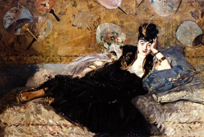 The Lady with the fans – portrait of Nina de Callias - Édouard Manet