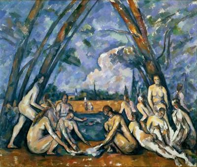 The large bathers (2) - Paul Cézanne