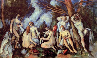The large bathers - Paul Cézanne