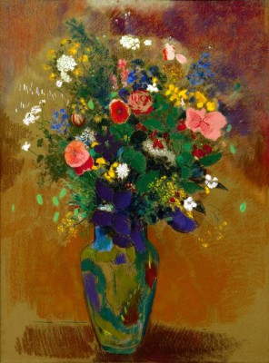 The large field flower bouquet - Odilon Redon