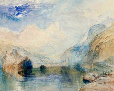 The Lauerzersee with Schwyz and the Mythen - William Turner