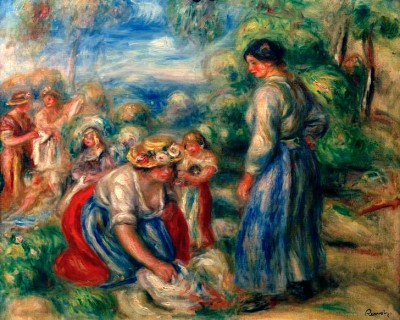 The Laundry Women - Pierre Renoir