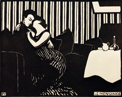 The Lie - Félix Vallotton