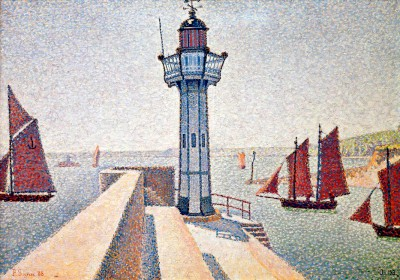 The lighthouse of Portrieux - Paul Signac