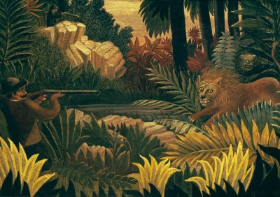 The Lion Hunt - Henri Rousseau