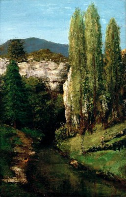 The Loue in the Jura mountains - Gustave Courbet