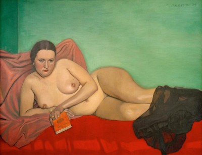 The lying act with a book - Félix Vallotton