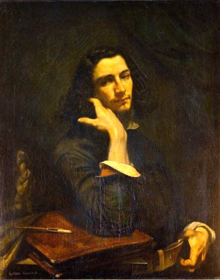 The man with the leather belt - self-portrait - Gustave Courbet