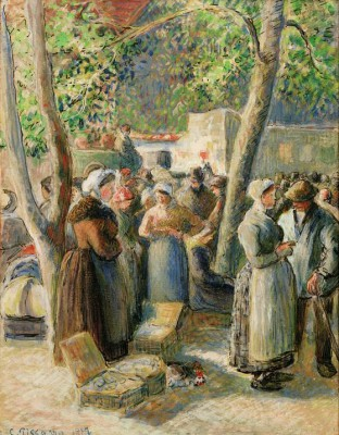 The market of Gisors - Camille Pissarro