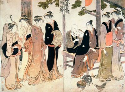 The marriage ceremony - Torii Kiyonaga