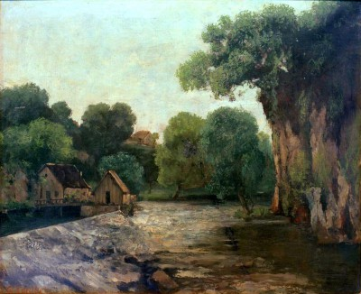 The Mill Weir - Gustave Courbet