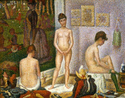 The models, small version - Georges-Pierre Seurat