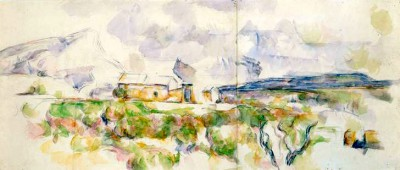 The Montagne Sainte-Victoire seen from Les Lauves - Paul Cézanne