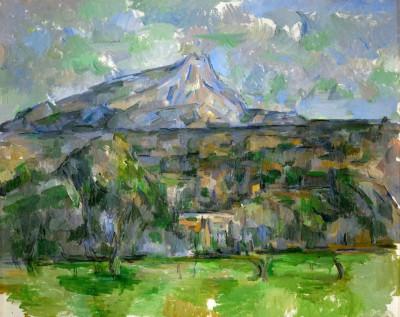 The mountain range Sainte-Victoire - Paul Cézanne
