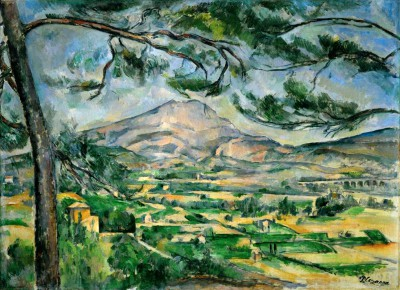The mountain Sainte-Victoire with large stone-pine - Paul Cézanne