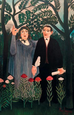The Muse Inspires the Poet - Henri Rousseau