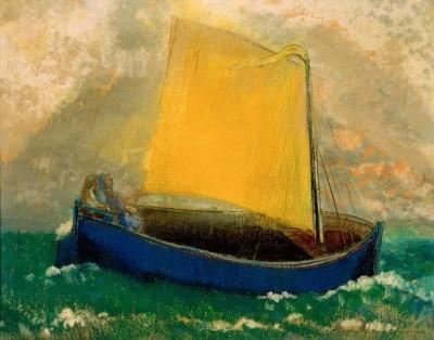The mystic Barque - Odilon Redon