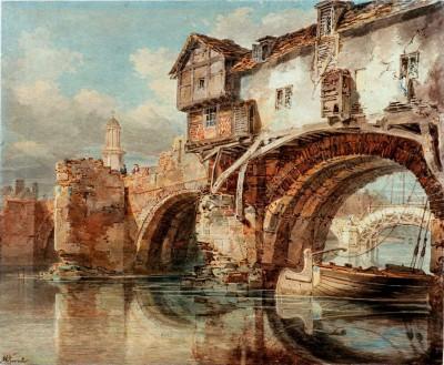 The Old Welsh Bridge in Shrewsbury - William Turner