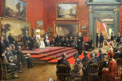 The Opening of the Modern Foreign and Sargent Galleries at the Tate Gallery - John Lavery