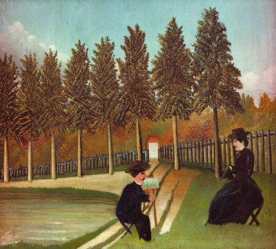 The Painter and his Wife - Henri Rousseau