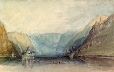 The Pfalz near Kaub - William Turner