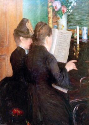 The piano lesson - Gustave Caillebotte