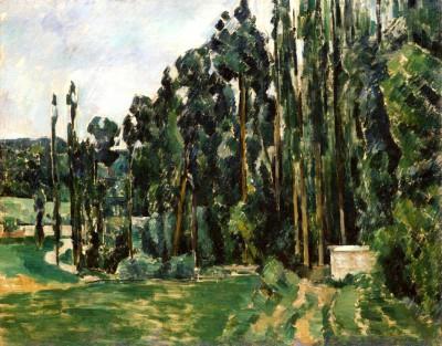 The poplars - Paul Cézanne