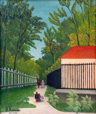 The promenade in Montsouris Park - Henri Rousseau