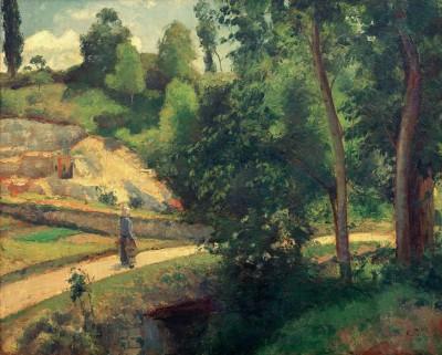 The quarry, Pontoise - Camille Pissarro