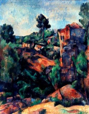 The quarry of Bibemus - Paul Cézanne