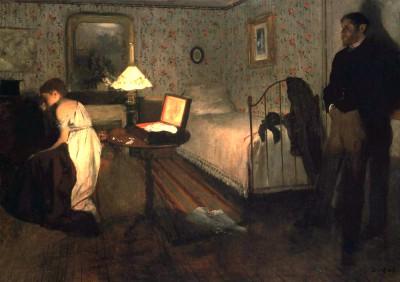 The rape - Edgar Degas