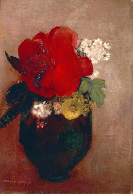 The red poppy - Odilon Redon