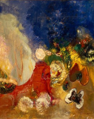 The Red Sphinx - Odilon Redon