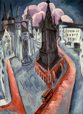 The Red Tower - Ernst Ludwig Kirchner
