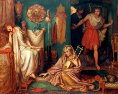The Return of Tibullus to Delia - Dante Gabriel Rossetti