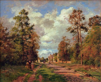 The road of Louveciennes (2) - Camille Pissarro