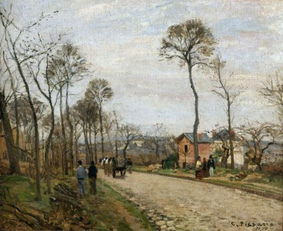 The road of Louveciennes - Camille Pissarro