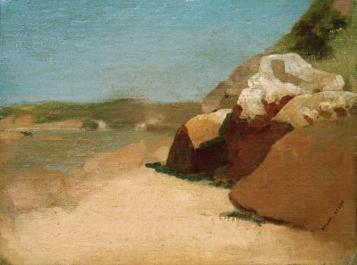 The rock in Bretagne - Odilon Redon