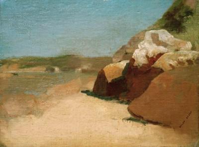 The rock in Bretagne - Odilon Redon