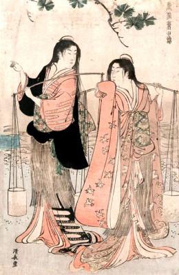 The Salt Maidens - Torii Kiyonaga