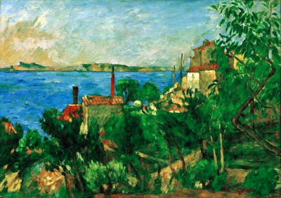 The sea at L'Estaque - Paul Cézanne