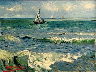 The Sea at Les Saintes-Maries-de-la-Mer - Vincent van Gogh