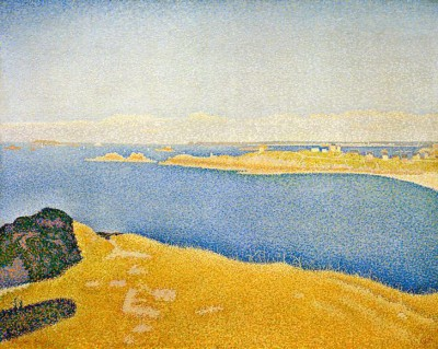 The sea at Saint-Briac. La Garde Guérin. Saint-Lunaire - Paul Signac