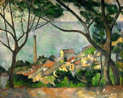 The sea near L'Estaque - Paul Cézanne
