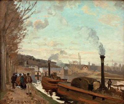 The Seine near Port-Marly - Camille Pissarro