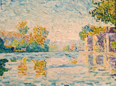 The Seine near Samois (2) - Paul Signac