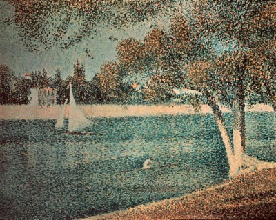 The Seine near the island of Grande Jatte - Georges-Pierre Seurat