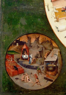 The Seven Deadly Sins and the Four Last Matters - Hell - Hieronim Bosch