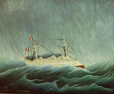 The Ship in the Storm - Henri Rousseau