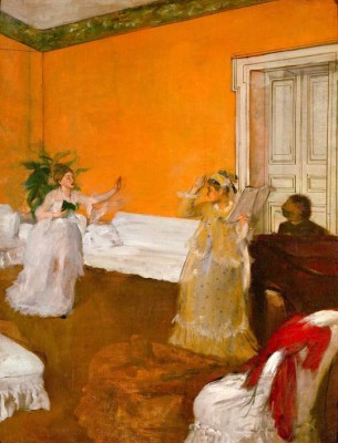 The Singing Lesson - Edgar Degas